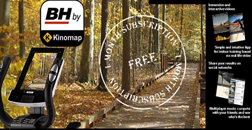 Treine hoje mesmo com a App BH by Kinomap Experimente e aproveite a subscrição gratuita de um mês!